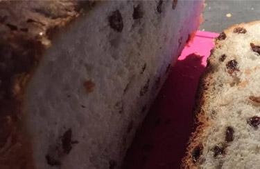 Rozijnenbrood van oliebollenmix