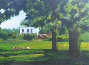 Witte huis vanaf de weg