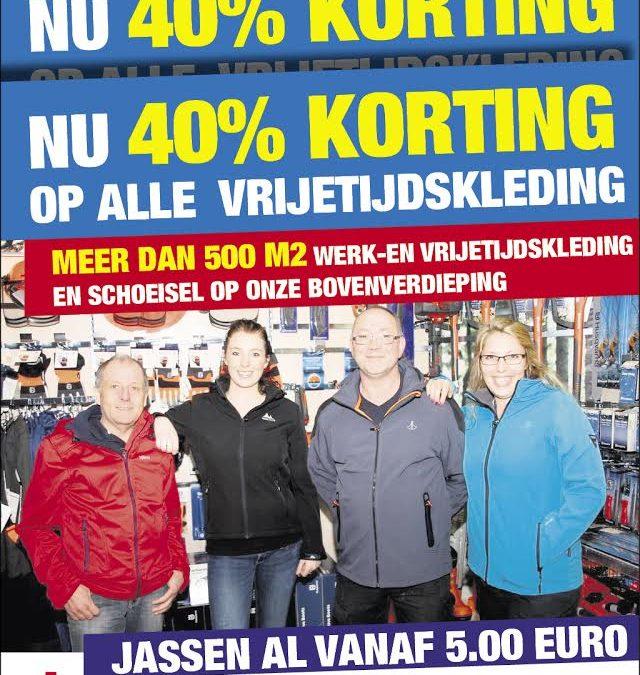 40% korting