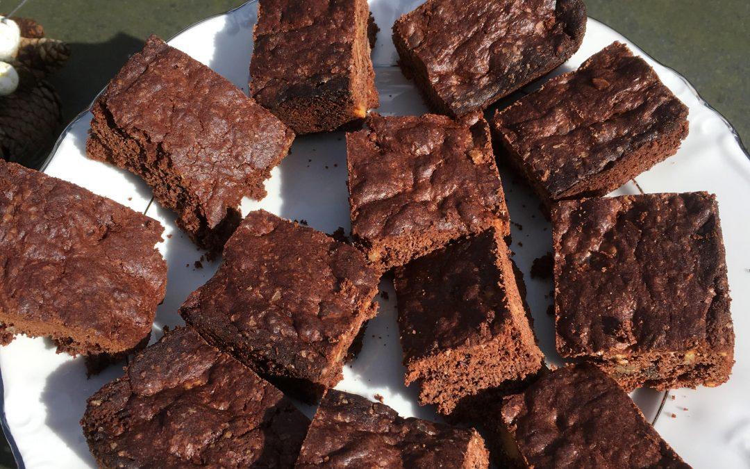 Chocolade-noten cake (met zuurdesem)